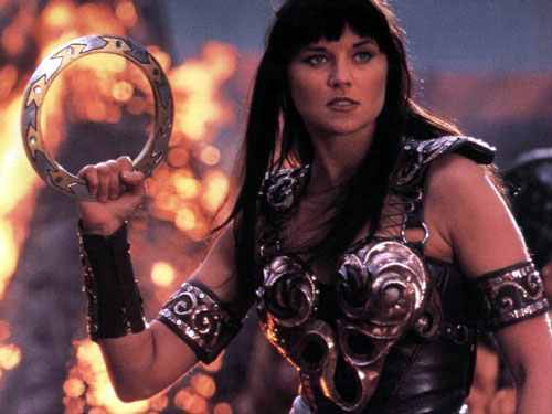 """Xena"" portrayed by Lucy Lawless"
