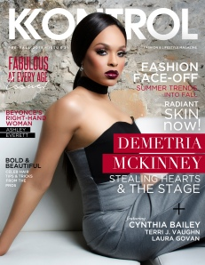 "Demetria McKinney on the cover of Kontrol Magazine's, ""Fabulous At Ever age Issue!"""
