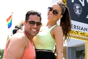 Mike and his fiancee, Jessica Parido