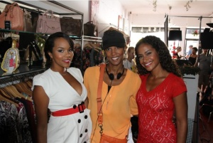 Letoya Luckett (l), Princess Monique (center), and Shannon Kane (right)