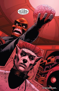Red Skull takes Professor X's brain