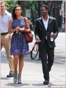 Chris Rock & Rosario Dawson Film In NYC