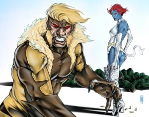 Sabretooth_and_Mystique_by_MDiPascale