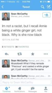 ", Twitter is A Buzz with Racist ""Annie"" Tweets!"
