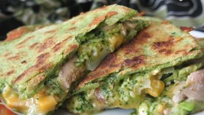 cilantro-cream-cheese-chicken-quesadillas-400x225