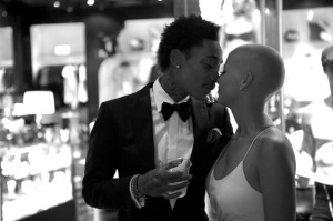 Amber Rose & Wiz Khalifa on their wedding day