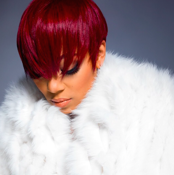 Monica Brown With Red Hair