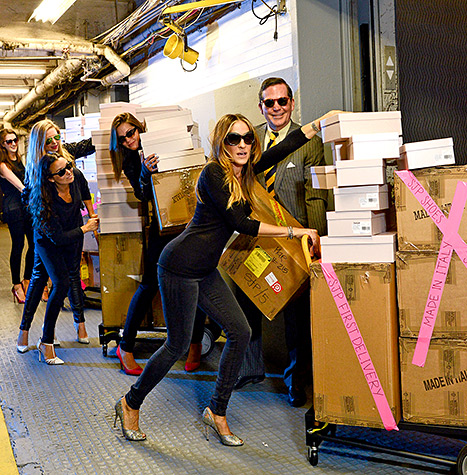 , Sarah Jessica Parker Delivers her SJP Shoe Collection to Bloomingdale's in NYC!