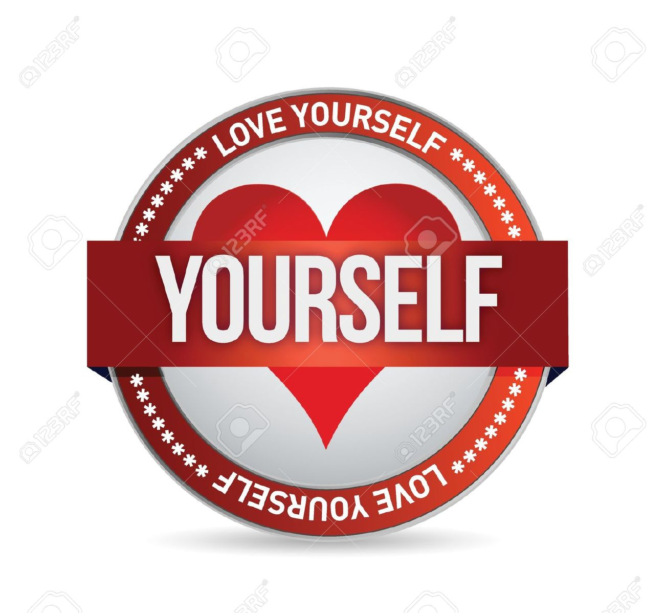 20662346-Love-Yourself-badge-illustration-design-over-white-Stock-Vector