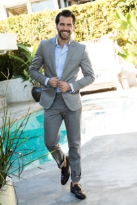 James Lee hey mikey atl Look 1: Cake for Monarchs suit  Cake for Monarchs button up shirt The Left Show shoes Chopard watch