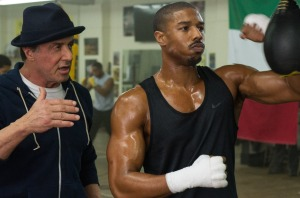 michael b. jordan and sylvester stallone hey mikey atl