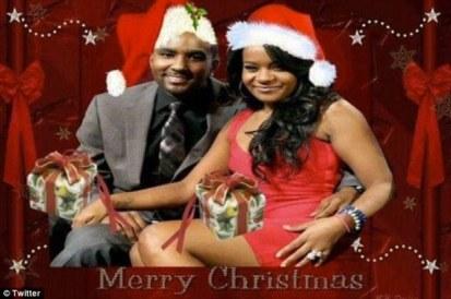 nick gordon and bobbi kristina christmas card hey mikey atl