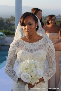 Letoya Luckett in wedding scene on the set of Lucky Girl The Movie being filmed in Los Angeles, California (Photo by Arnold Turner)
