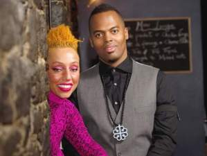 Dessy Di Lauro and her husband, Ric'Key Pageot
