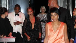 "Jay Z and sister-in-law Solange Knowles had an altercation at a Met Gala after-party May 5 that was caught on tape. It all went down in an elevator where the 27-year-old sister of Beyonce can be seen clawing and kicking at her brother-in-law as the ""Halo"" singer looks on. It's unclear what caused the argument as there is no sound on the black and white surveillance video, shot after the group attended a soiree at the Boom Boom Room at New York's Standard Hotel. May 5, 2014 X17online.com"