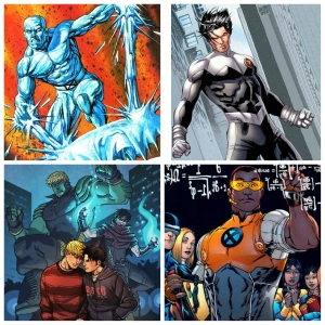 Iceman (top left), Northstar (top right), Wiccan & Hulking (bottom left), Prodigy (bottom right)