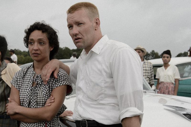 "Ruth Negga & Joel Edgerton as ""Mildred & Richard Loving"""