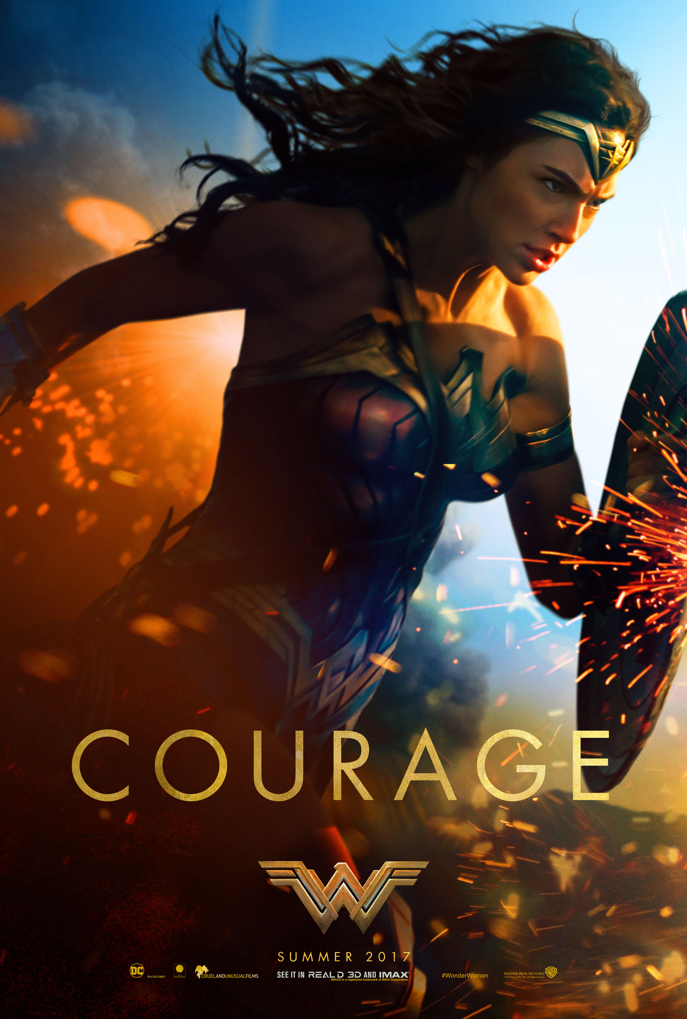 wonder woman courage movie poster