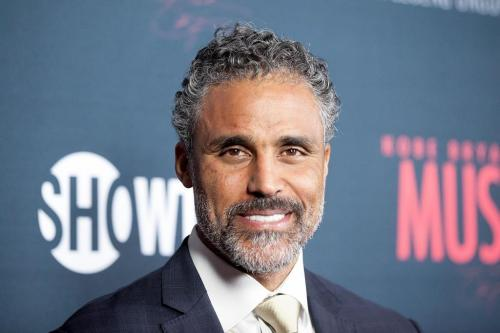 "WEST HOLLYWOOD, CA - FEBRUARY 26:  Rick Fox arrives for the Premiere Of Showtime's ""Kobe Bryant's Muse"" - Arrivals at The London Hotel on February 26, 2015 in West Hollywood, California.  (Photo by Gabriel Olsen/Getty Images)"