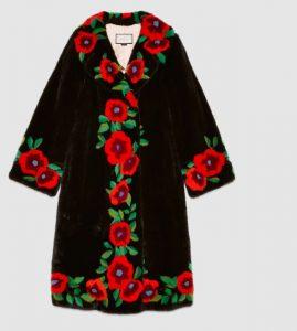Gucci flower intarsia mink fur coat