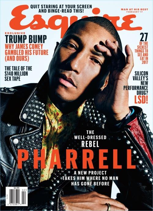 pharrell williams 2017 esquire magazine cover