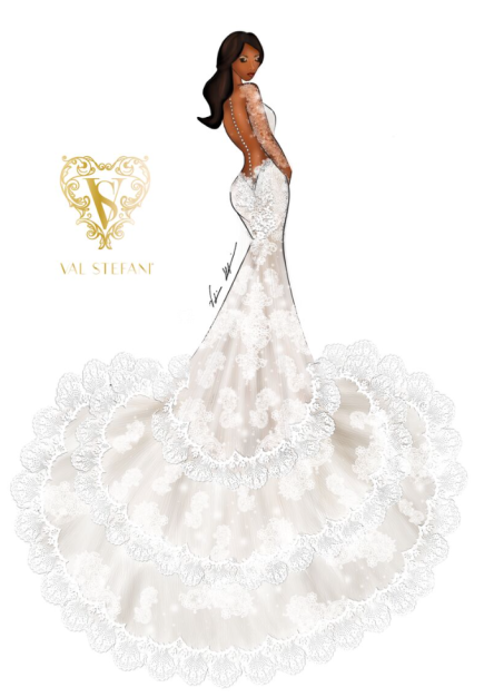 """, [PHOTOS] """"That's So Serena Williams!"""" Check Out Her Wedding Gown Prediction: Sketches by Val Stefani!"""
