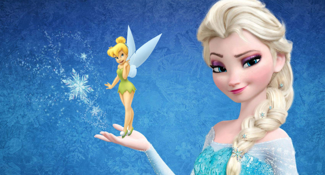 elsa and tinkerbell