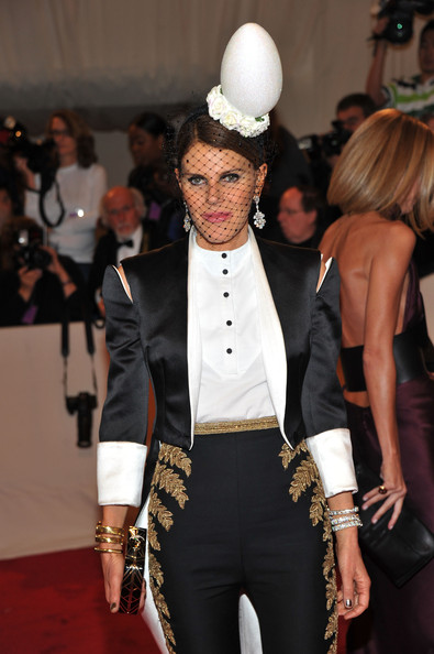 Anna Dello Russo at the Met Ball in 2011