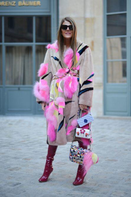 Anna Dello Russo wearing Fendi