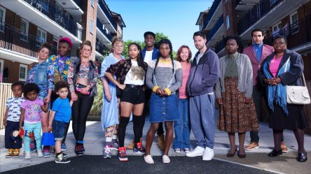 the cast of netflix's chewing gum series