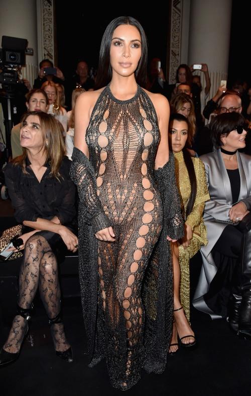 Kim Kardashian wearing Balmain