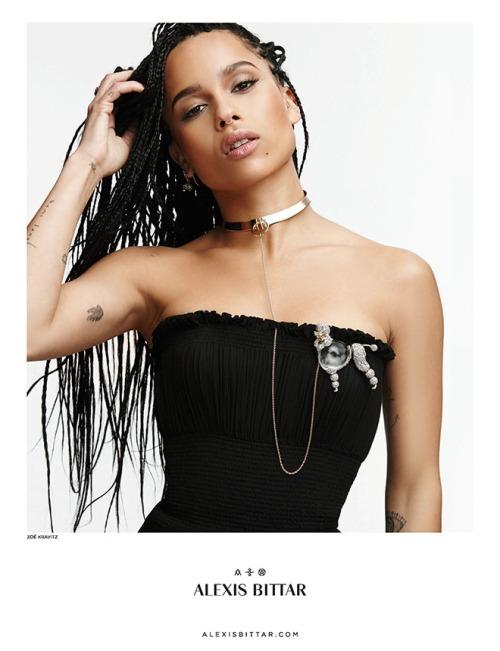 Zoe Kravitz in Alexis Bittar ad