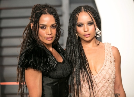 Zoe Kravitz alongside mother Lisa Bonet