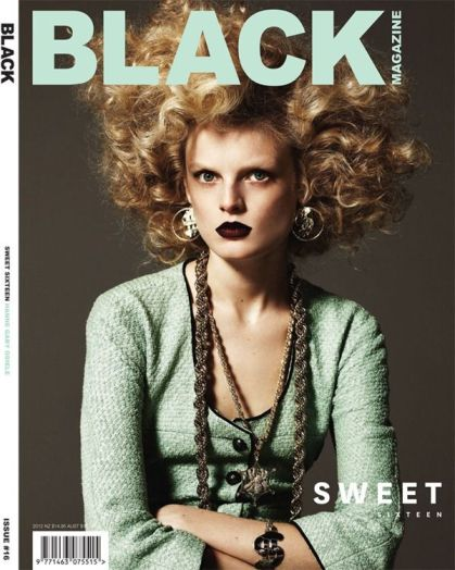 Hanne Gaby Odiele covers Black Magazine