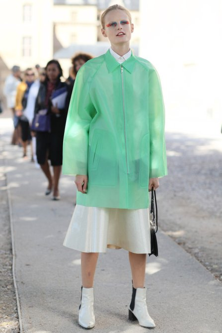 Hanne Gaby Odiele during fashion week