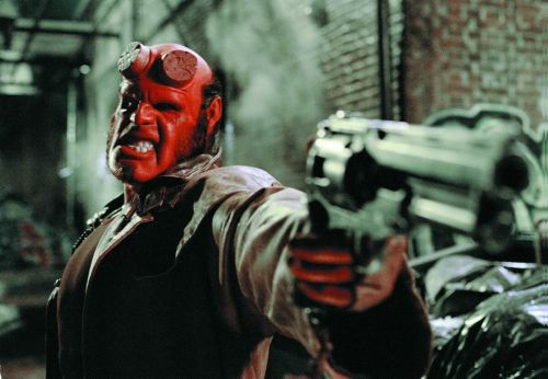 hellboy with pistol