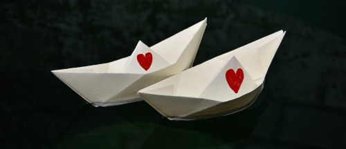 paper boat wedding invitations