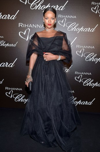 Rihanna celebrates her collaboration with Chopard