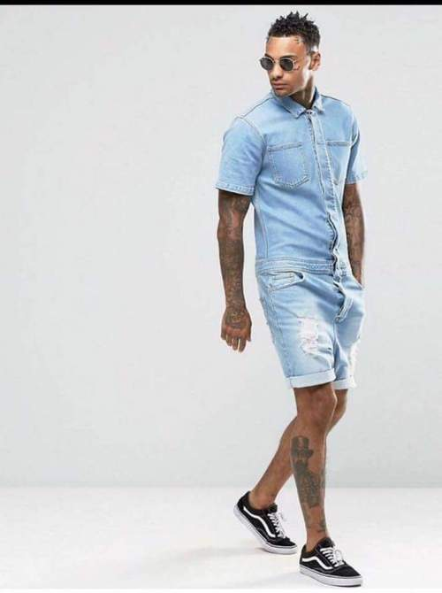 denim male romper