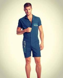 blue male romper