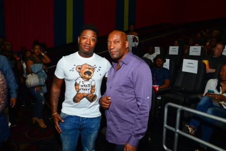 yung joc and john singleton at snowflake screening in atlanta