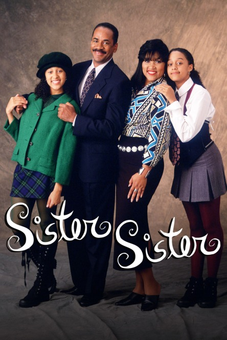 Tamera Mowry, Tim Reid, Jackee Harry and Tia Mowry star in Sister, Sister.