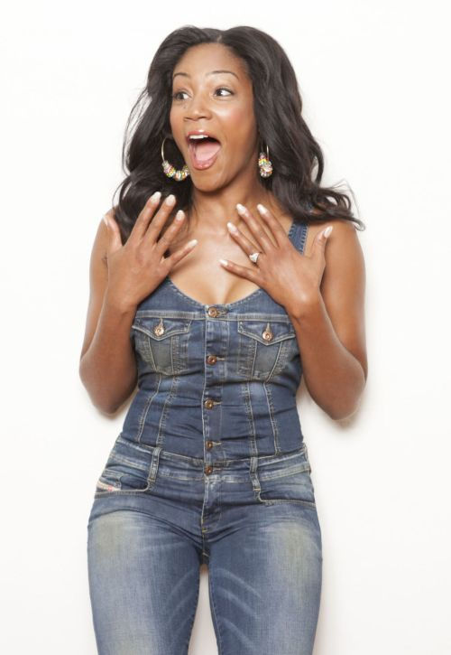 tiffany haddish in blue jean romper