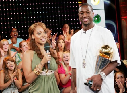 lala anthony and dwyane wade on TRL