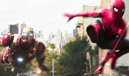 iron man and spider-man in spider-man homecoming movie