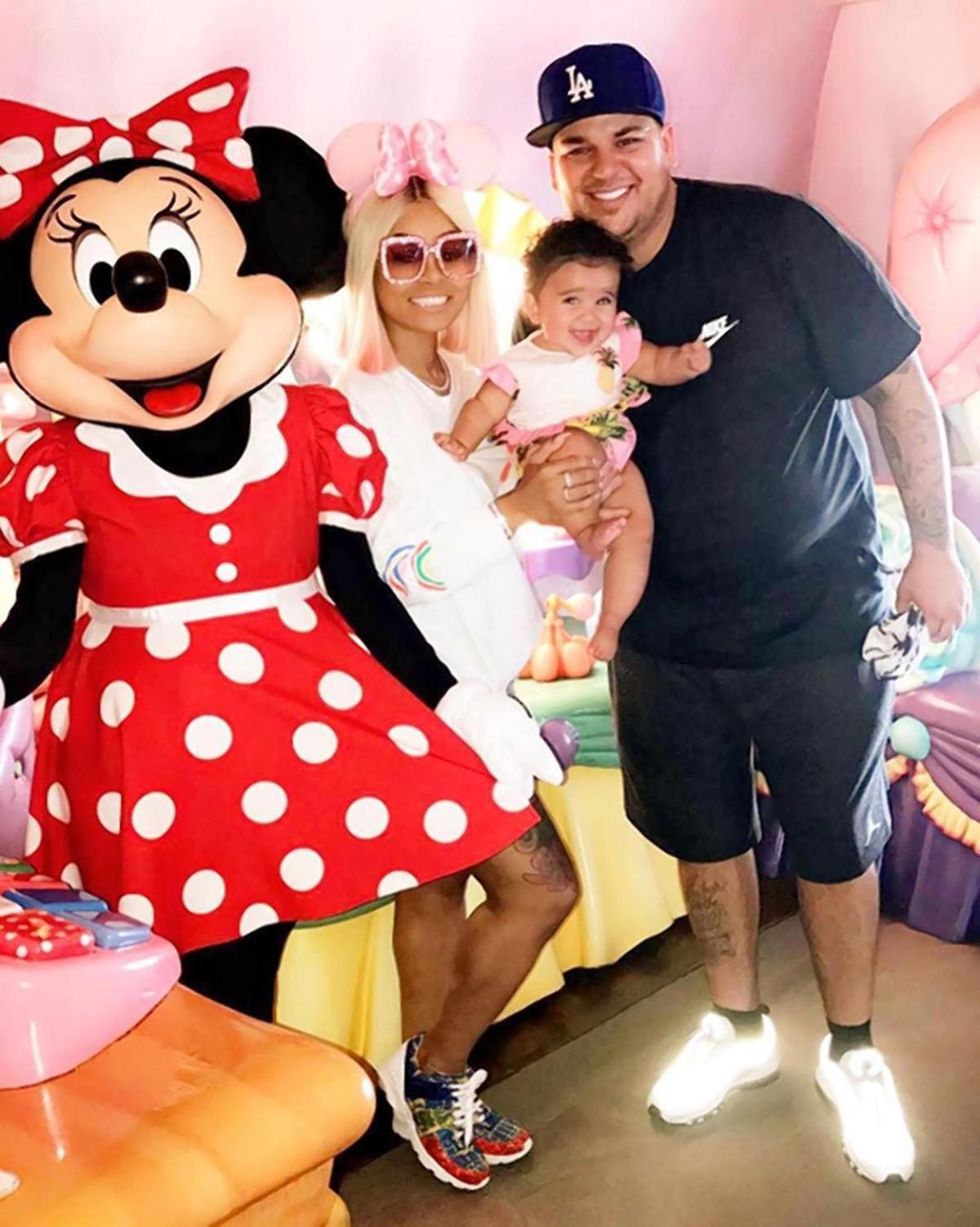 Rob Kardashian, Blac Chyna, and Dream Kardashian
