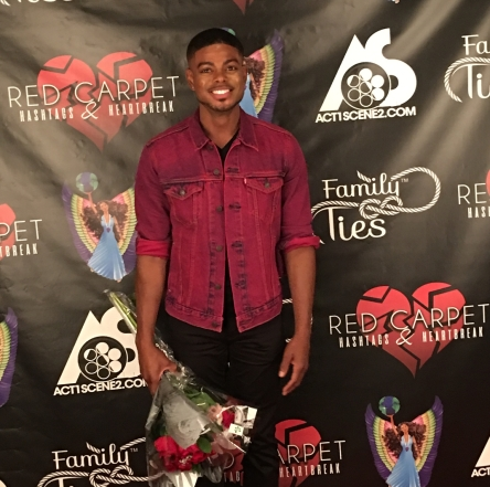 Davien Harlis at movie premiere of Red Carpet, Hashtags, & Heartbreak