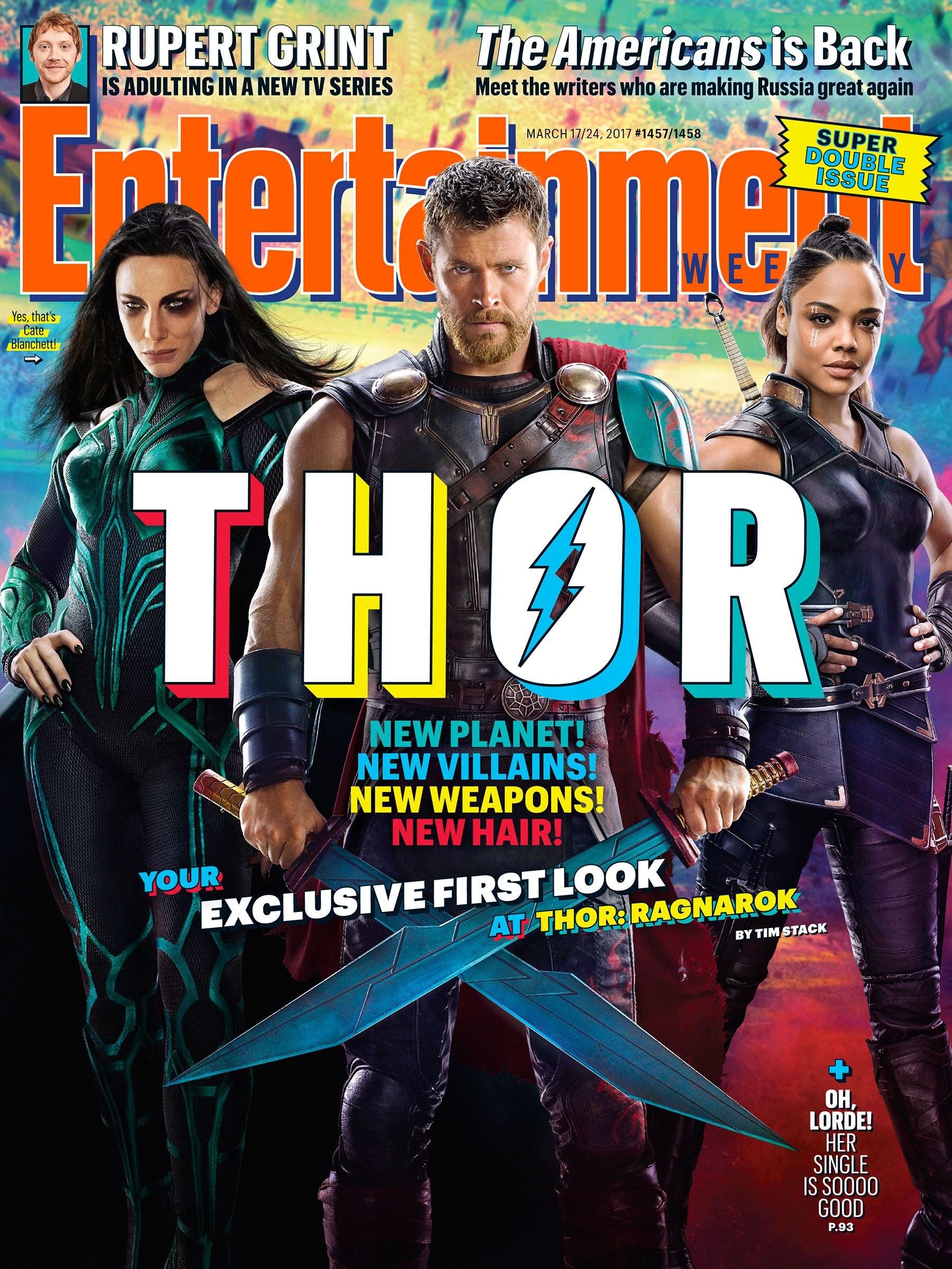Thor Ragnarok Entertainment Weekly cover