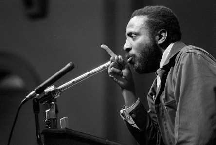 Dick Gregory in 1966 before being arrested