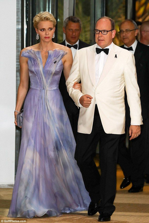 Princess Charlene of Monaco and husband Prince Albert